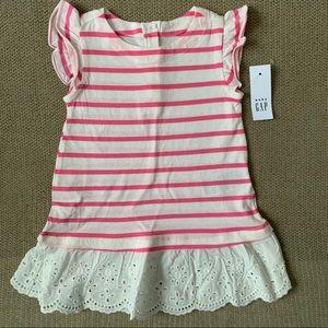 BABY GAP | NWT Striped Lace Trim Dress